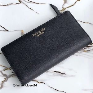 Kate Spade Cameron Street Black Wallet